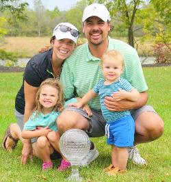 King shares victory with family